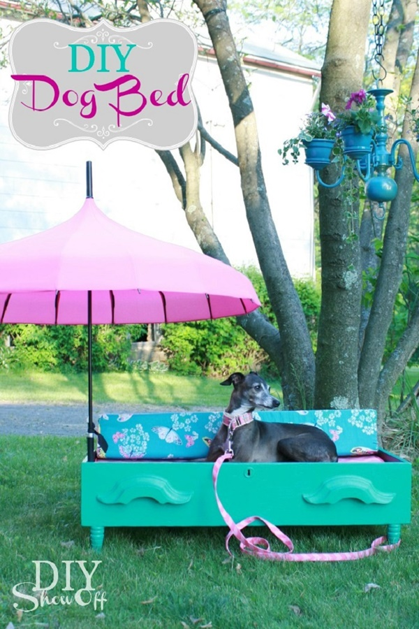 10 Ideas to Reuse Old Furnitures into Pet Beds 5