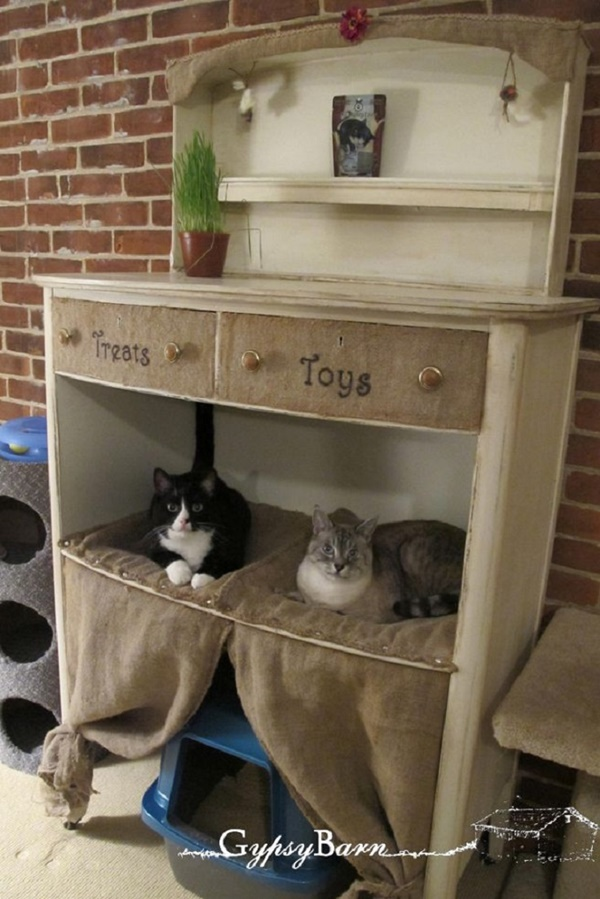 10 Ideas to Reuse Old Furnitures into Pet Beds 6