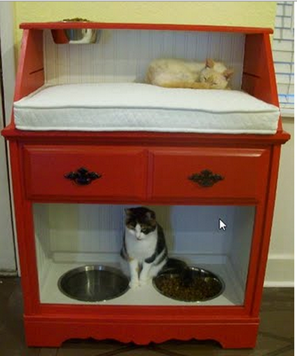 10 Ideas to Reuse Old Furnitures into Pet Beds 9