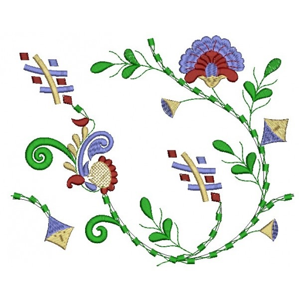 335 Free Hand Embroidery Flower Designs and Ideas 12