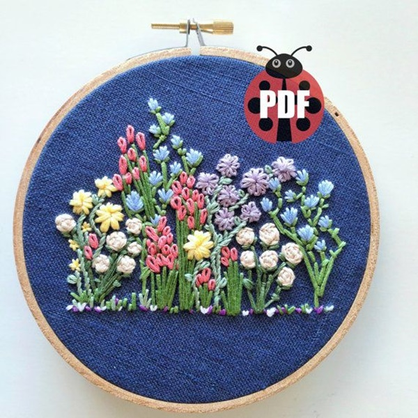335 Free Hand Embroidery Flower Designs and Ideas 13