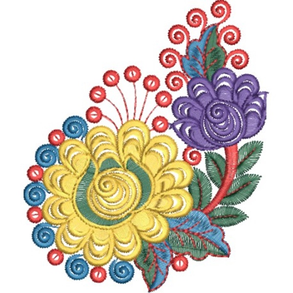 335 Free Hand Embroidery Flower Designs and Ideas 18