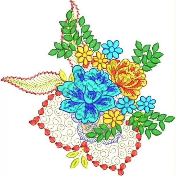 335 Free Hand Embroidery Flower Designs and Ideas 20