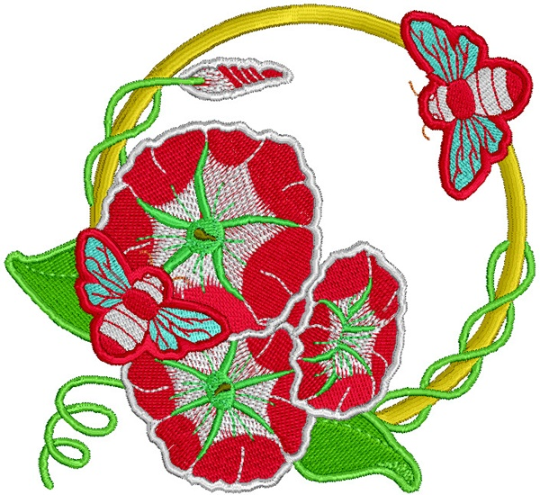 335 Free Hand Embroidery Flower Designs and Ideas 26
