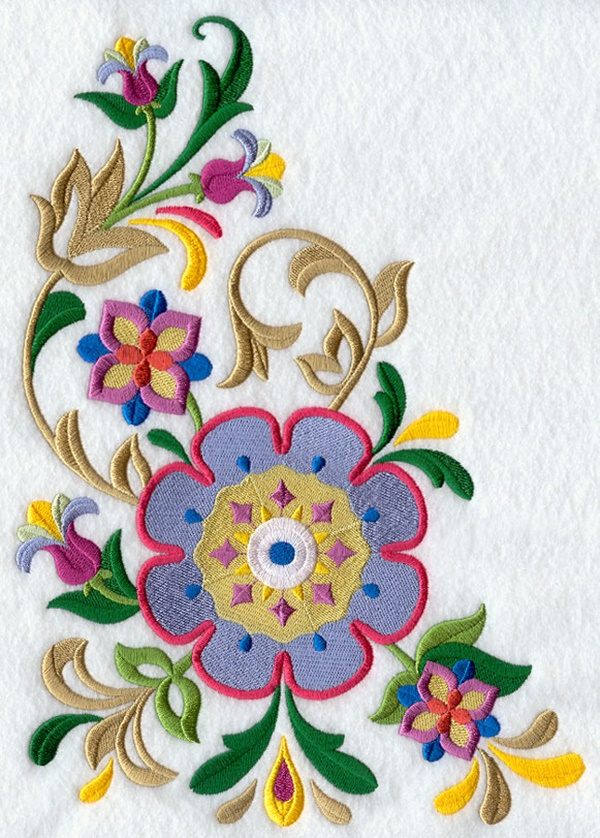 335 Free Hand Embroidery Flower Designs and Ideas 27