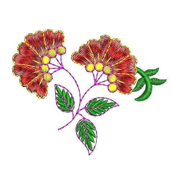 335 Free Hand Embroidery Flower Designs and Ideas 29