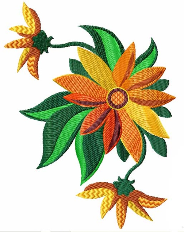 335 Free Hand Embroidery Flower Designs and Ideas 3