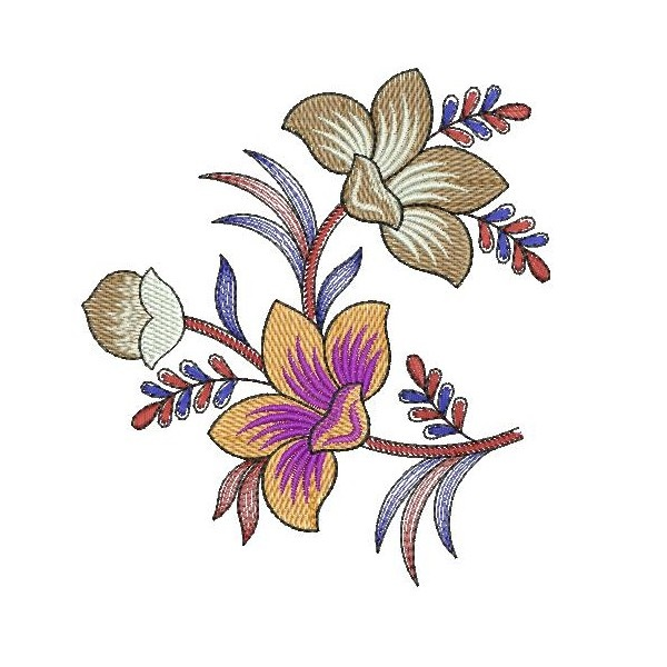 335 Free Hand Embroidery Flower Designs and Ideas 30