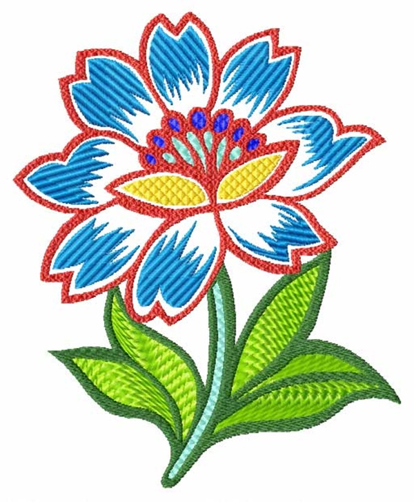 335 Free Hand Embroidery Flower Designs and Ideas 4