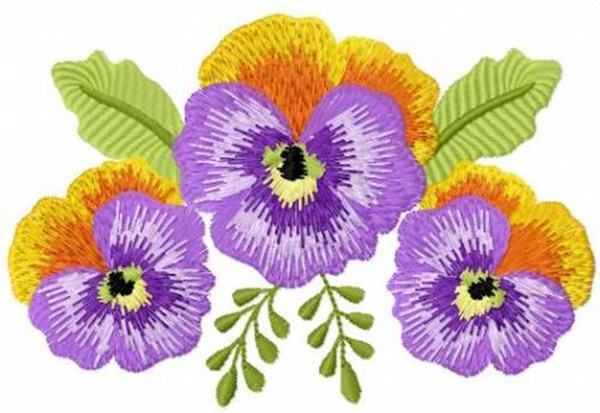 335 Free Hand Embroidery Flower Designs and Ideas 7