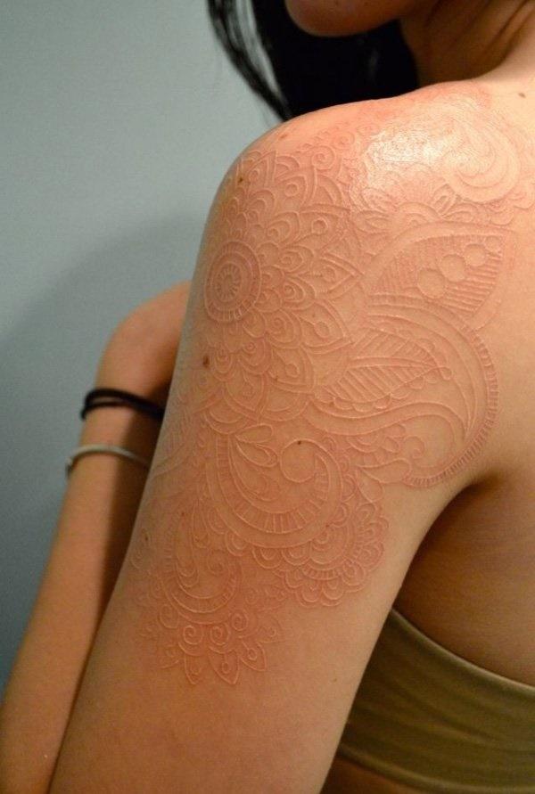 40 Unique yet Attractive Best White Ink Tattoo Designs 1
