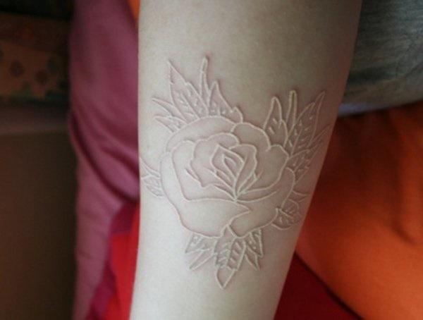 40 Unique yet Attractive Best White Ink Tattoo Designs 2