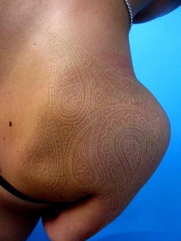 40 Unique yet Attractive Best White Ink Tattoo Designs 26