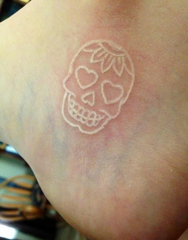 40 Unique yet Attractive Best White Ink Tattoo Designs 37