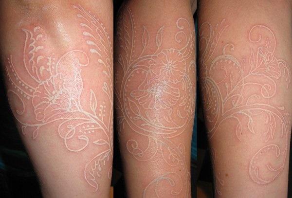 40 Unique yet Attractive Best White Ink Tattoo Designs 5
