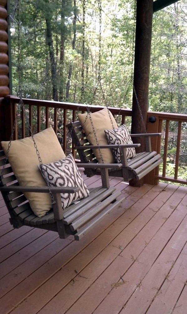 Beautiful Porch Swing Home Installation (1)