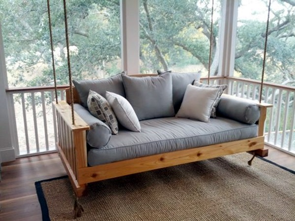 Beautiful Porch Swing Home Installation (11)