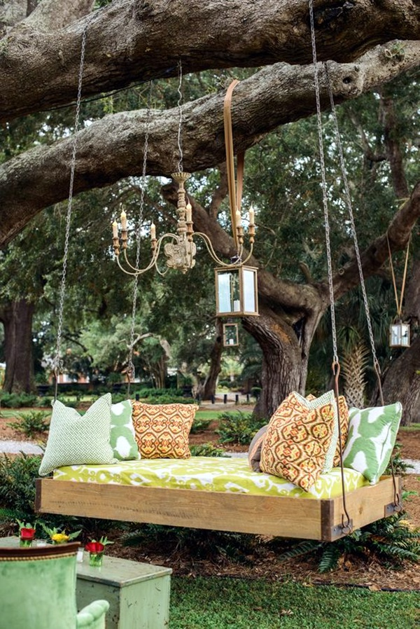 Beautiful Porch Swing Home Installation (12)