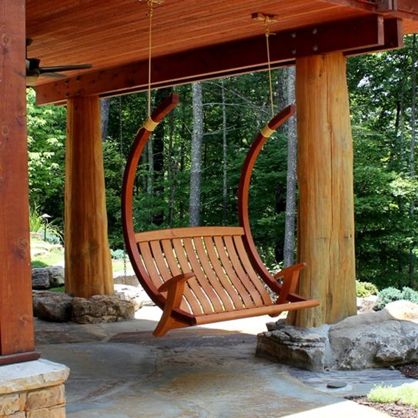 Beautiful Porch Swing Home Installation (13)