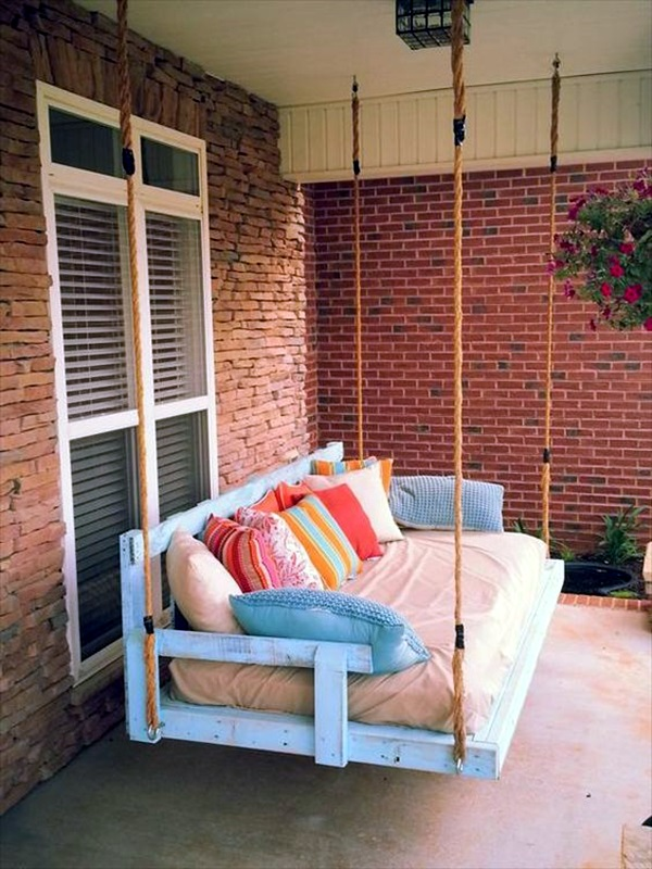 Beautiful Porch Swing Home Installation (14)