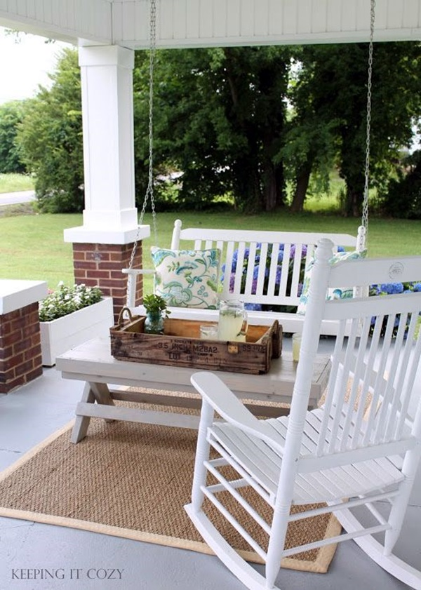 Beautiful Porch Swing Home Installation (15)