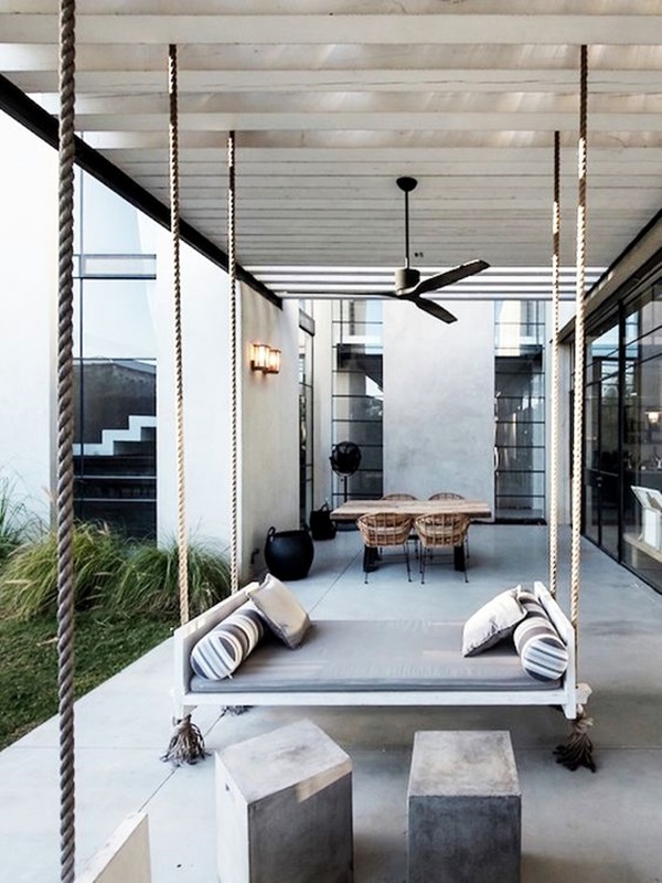 Beautiful Porch Swing Home Installation (16)