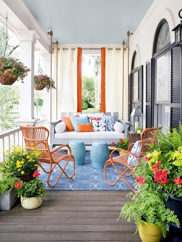Beautiful Porch Swing Home Installation (17)