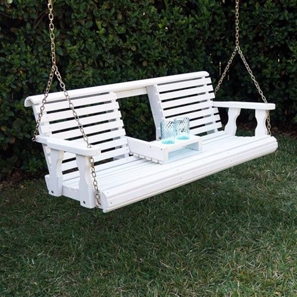 Beautiful Porch Swing Home Installation (18)