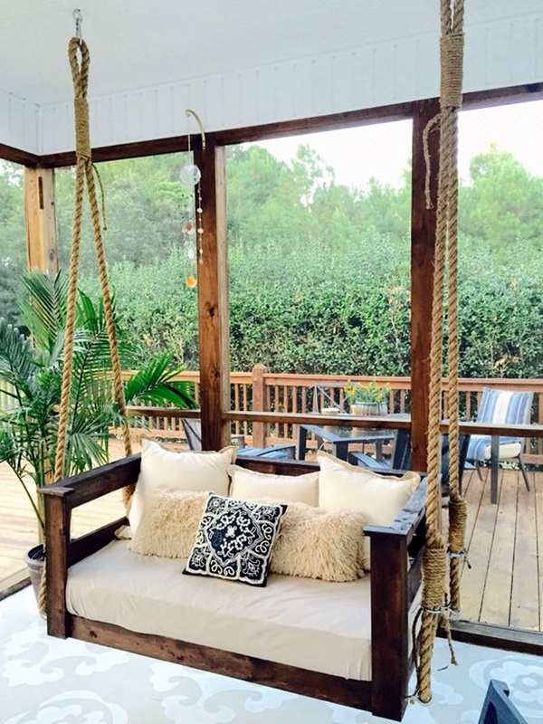 Beautiful Porch Swing Home Installation (19)