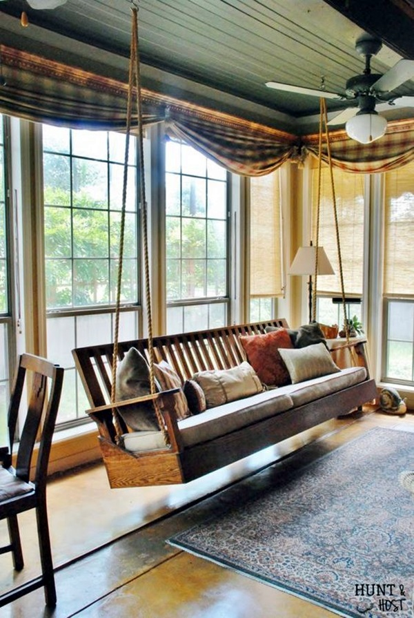 Beautiful Porch Swing Home Installation (2)