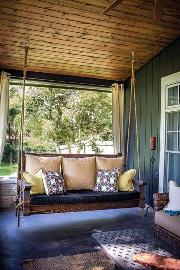 Beautiful Porch Swing Home Installation (20)