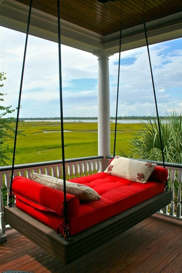 Beautiful Porch Swing Home Installation (21)
