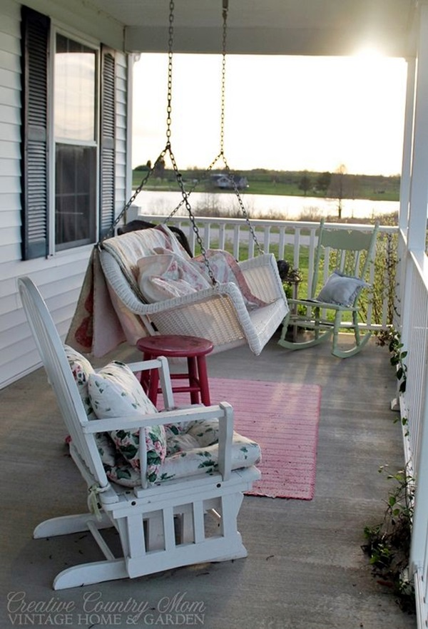 Beautiful Porch Swing Home Installation (22)