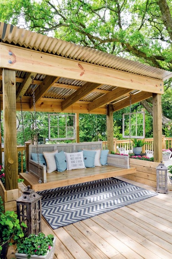 Beautiful Porch Swing Home Installation (3)