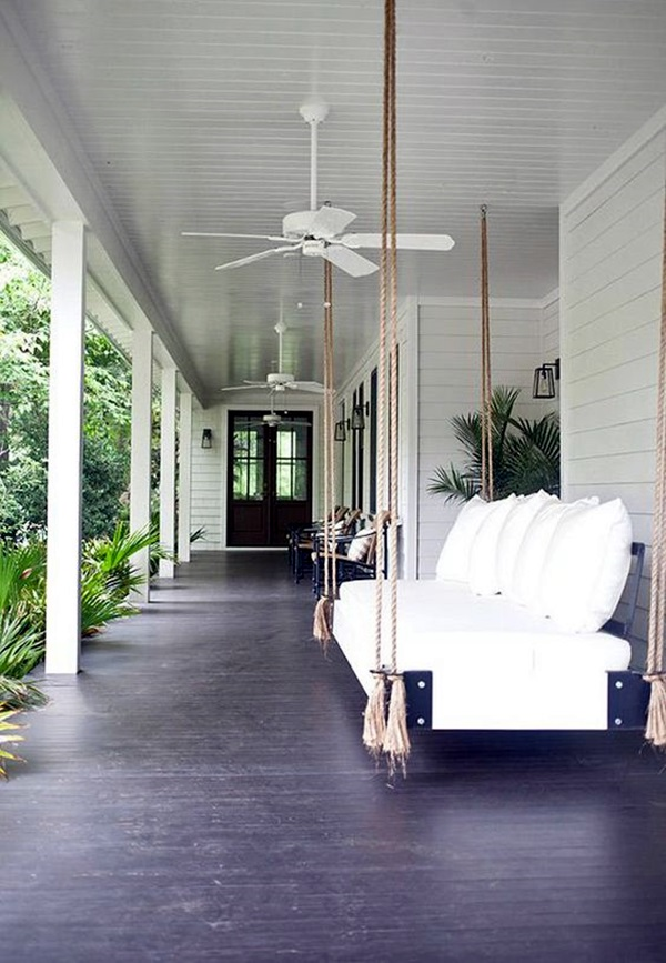Beautiful Porch Swing Home Installation (7)