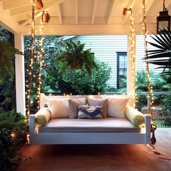 Beautiful Porch Swing Home Installation (8)