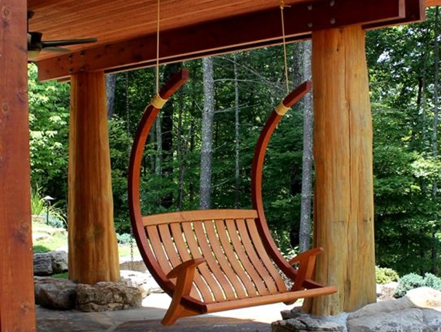 Beautiful Porch Swing Home Installation