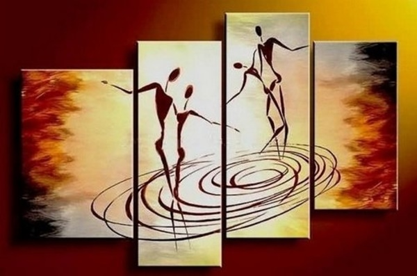 25 Easy Three Piece Painting Ideas 19