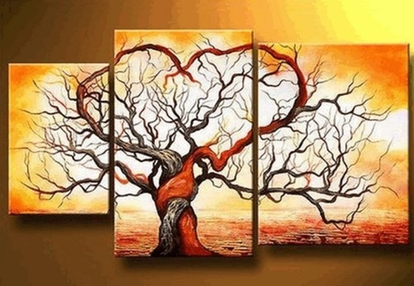 25 Easy Three Piece Painting Ideas 21