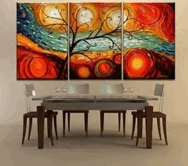 25 Easy Three Piece Painting Ideas 23
