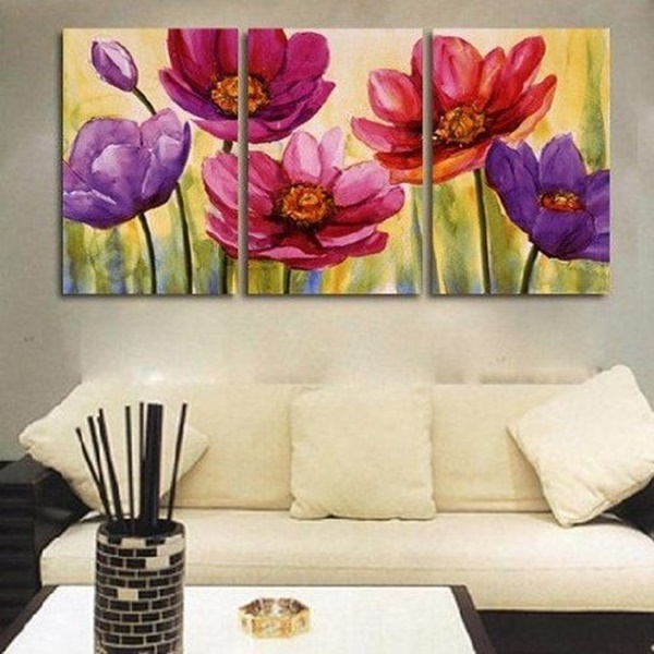 25 easy wall art three piece painting ideas hobby lesson