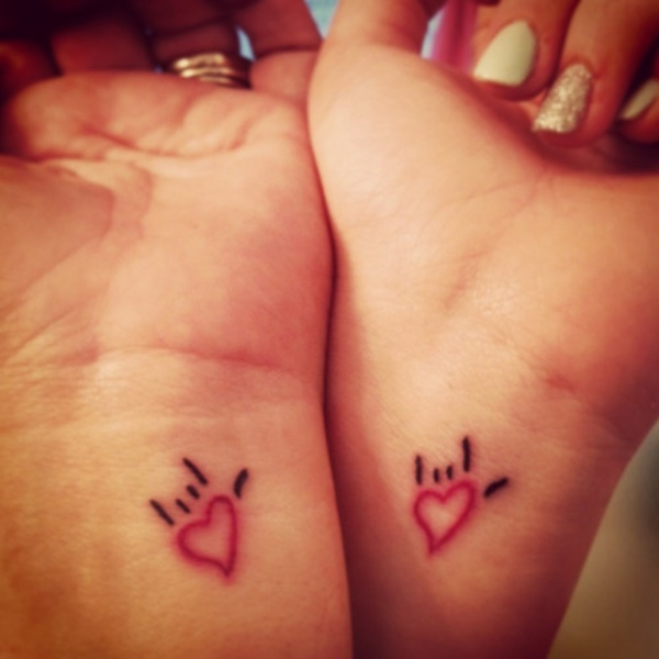 35 Cute and Small Heart Tattoo Designs 18