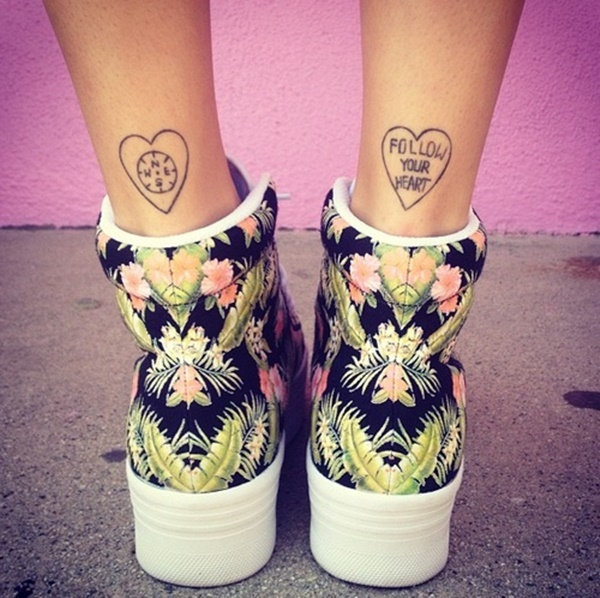 35 Cute and Small Heart Tattoo Designs 20