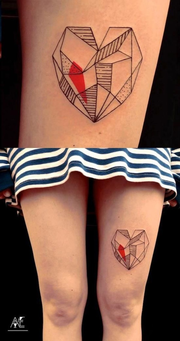 35 Cute and Small Heart Tattoo Designs 7