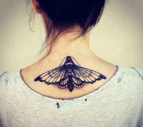 35 Most Attractive Ideas about Back Neck Tattoos for Woman 1