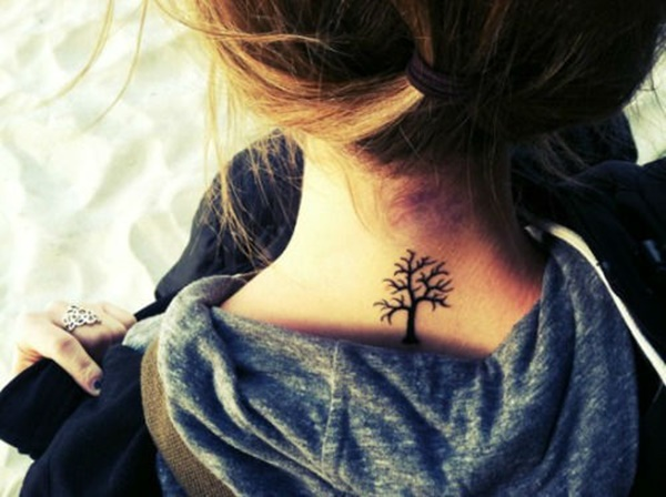 35 Most Attractive Ideas about Back Neck Tattoos for Woman 12
