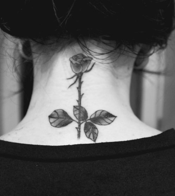 35 Most Attractive Ideas about Back Neck Tattoos for Woman 15