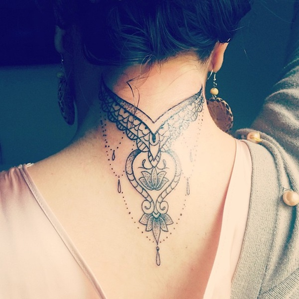35 Most Attractive Ideas about Back Neck Tattoos for Woman 25