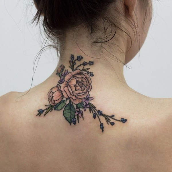 35 Most Attractive Ideas about Back Neck Tattoos for Woman 27