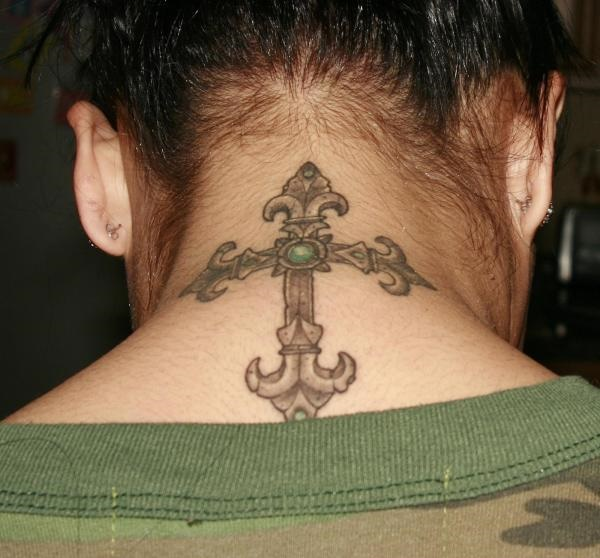 35 Most Attractive Ideas about Back Neck Tattoos for Woman 29
